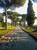 Appian Way, Rome. Appian Way (Italian: Appia Antica), the ancient Roman road connecting the capital of the empire, to south Italy Royalty Free Stock Photo
