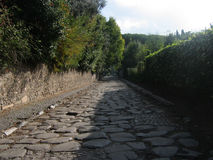 Appian Way-Via Appia. Road in Rome from ancient times Royalty Free Stock Photos