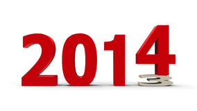 2013-2014 appiattito Fotografia Stock Libera da Diritti