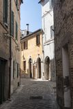 Appignano Marches, Italy, historic village. Appignano Ancona, Marches, Italy, buildings of the historic village: a typical street Stock Image