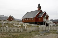 appilatoq εκκλησία Γροιλανδία Στοκ φωτογραφία με δικαίωμα ελεύθερης χρήσης