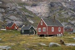 appilatoq σπίτια της Γροιλανδίας Στοκ Εικόνα
