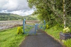 Appin,苏格兰- 2017年5月30日:在Appin签署指明道路周年纪念桥梁 库存图片