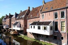 Appingedam histórico en la provincia Frisia, los Países Bajos Imagen de archivo libre de regalías