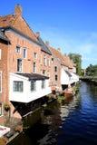 Appingedam histórico en la provincia Frisia, los Países Bajos Imagenes de archivo