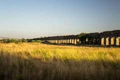 The Appio Claudio aqueduct in Rome Royalty Free Stock Photography