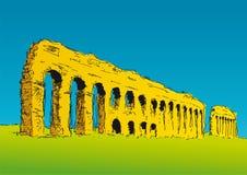 Appius Claudius aqueduct Stock Images
