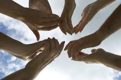 applåden hands ditt Fotografering för Bildbyråer