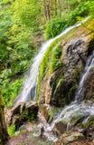 Applådera du Kreuzweg, en vattenfall i Vosgesna Royaltyfri Bild