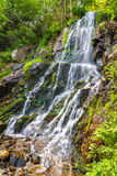 Applådera du Kreuzweg, en vattenfall i Vosgesna - Frankrike Arkivbilder