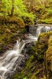 Applådera vattenfallet Juneau Alaska (lodlinjen) Royaltyfri Fotografi