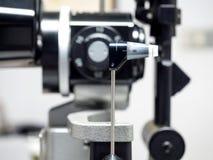 Applanation tonometry dla miary oko naciska Obraz Royalty Free
