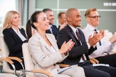 Applaudieren zum Sprecher Lizenzfreies Stockfoto