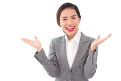 Applauding business lady Stock Images