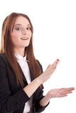 Applauding girl Stock Image