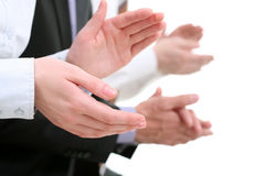 Applauding hands Royalty Free Stock Images