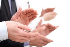 Applauding hands Stock Photography