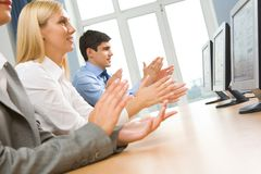 Applauding people Stock Photography