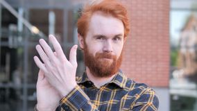 Applauding Redhead Beard Young Man, Clapping
