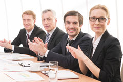 Applauding to you. Stock Photos