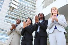 Applaudissement divers d'équipe d'affaires Image libre de droits