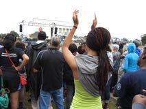 Applaudissement pour Obama Photos libres de droits