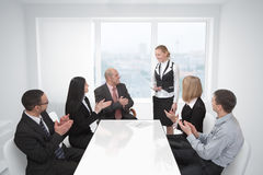 Applauds a colleague Stock Photography