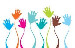 Applaus, klatschende Hände lustig Lizenzfreies Stockfoto