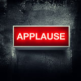 Applause. Warning board message is lit on royalty free illustration
