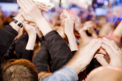 Applause. Crowd's applause on the concert Royalty Free Stock Photos