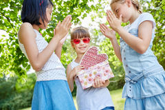 Applause for birthday girl Royalty Free Stock Photos