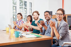 Applause of business startup people Royalty Free Stock Photos