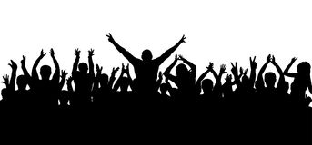 Applause, cheerful crowd, silhouette vector. Applause, cheerful crowd, silhouette vector stock illustration