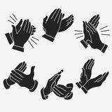 Applause, clapping hands. Set. Congratulation -two hands celebrating with a high five. vector royalty free illustration