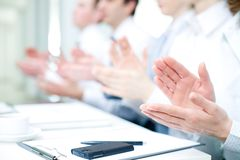 Applause on  conference Stock Photo