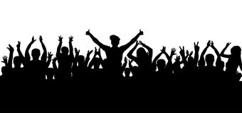 Applause crowd silhouette. On white background Royalty Free Stock Photo