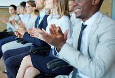 Applause at the end of lecture Stock Photo