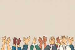 Applause hands up in business conference