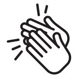 Applause icon. Clapping Hands. Ovation cheering Vector illustration royalty free illustration