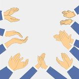 Applause set clapping. Man hands vector icon design Stock Image