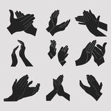 Applause set clapping hands Royalty Free Stock Photos