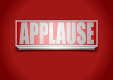 Applause sign. Detailed illustration of a red applause sign royalty free illustration