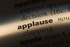 Applause. Word in a dictionary.  concept royalty free stock photo