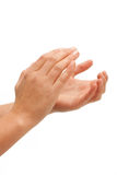 Applauso! Applauso di mani femminile Fotografie Stock Libere da Diritti