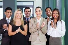 Applauso del gruppo di affari Immagini Stock