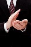 Applauso di mani maschio Fotografia Stock Libera da Diritti