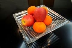 Apple和桔子 免版税图库摄影