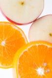 Apple和桔子 图库摄影