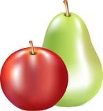 Apple和梨 库存图片