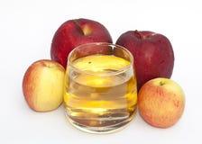 Apple和苹果汁 库存图片